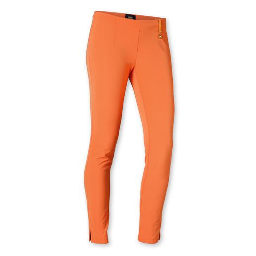 cavalli CLASS Slim-Pants - Das genau richtige Orange: Passt zu erstaunlich vielen Farben und trifft exakt den Orange-Ton des Ponchos.