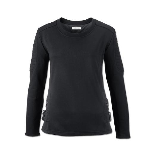 Pierre Balmain Biker-Sweatshirt Unverkennbar Pierre Balmain: Rockige Details adeln das Sweatshirt.
