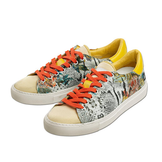 """D.A.T.E. Sneakers """"Snake"""" Chart-Stürmer des Sportschuh-Trends: Die Materialmix-Sneakers vom In-Label D.A.T.E."""