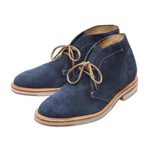 Cordwainer Desert-Boot - Hochmodische Desert-Boot-Form: Blau mit heller Sohle. Dabei traditionell rahmengenäht.