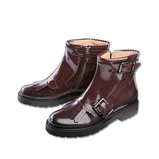 Twin-Set Lack-Boots - Twin-Set macht trendig derbe Boots tragbar feminin.