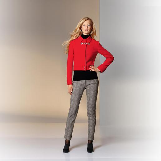 Versace Collection Pattern-Pants Modisch wichtige, grafische Muster. Bei Versace außergewöhnlich ruhig und elegant kombiniert.