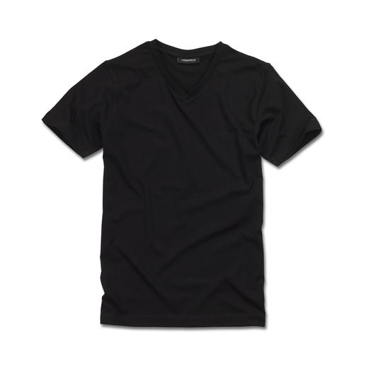 Lagerfeld Basic-Shirts 2er-Set Das ideale Basic-Shirt: Puristisch schwarz oder weiß. Schlank geschnitten.