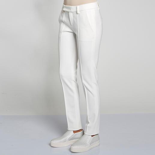 """Strenesse Slim-Pants oder Stehkragen-Shirt """"Punto Milano"""" Selten zu finden: Ein elegantes Outfit – bequem wie Homewear. Im angesagten Clean-Chic – schon immer die Spezialität von Strenesse."""