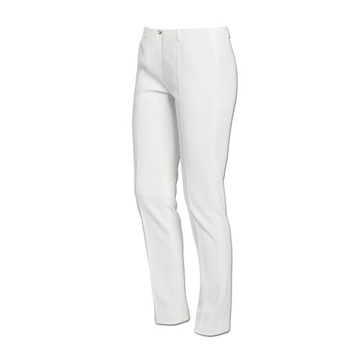 cavalli CLASS weiße Hose - Modisch. Elegant. Superbequem. Und nahezu blickdicht. Besser kann eine weiße Hose kaum sein.
