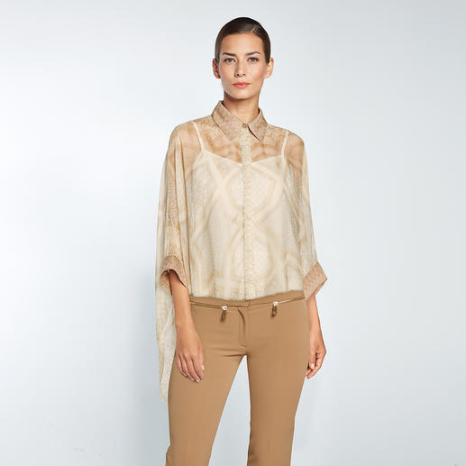 Versace Collection Cigarette-Pants Versaces bewährte verkürzte Hosen-Form – jetzt aktuell in angesagtem Camel-Ton.