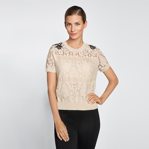 Twin-Set Sports-Couture-Pulli - Sportiv und bequem wie ein Sweatshirt. Aber dennoch elegant wie eine Bluse.