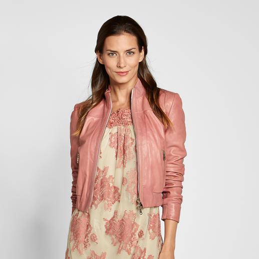 "Twin-Set Lederblouson ""Pink Rose"" So elegant, so feminin sind coole Lederjacken nur selten. Von Twin-Set."
