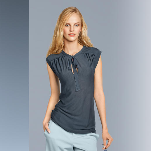 Strenesse Feinstrick-Schluppen-Top - Elegant wie eine Bluse, aber viel lässiger: Das gestrickte Schluppen-Top.