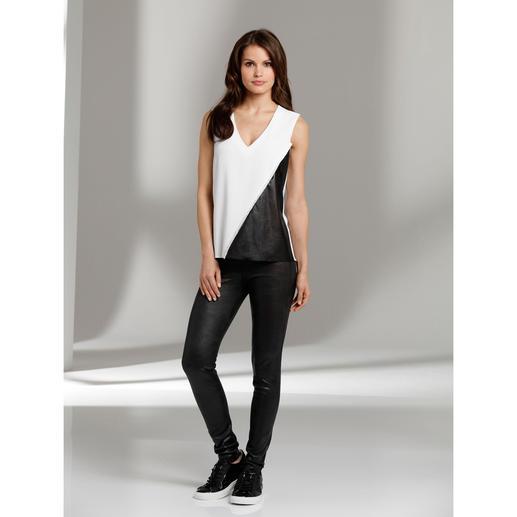 """Janice & Jo Leggings """"faux cuir"""" - Luxus-Kunstleder-Leggings vom Spezialisten und Trendlabel: Janice & Jo, Frankreich."""