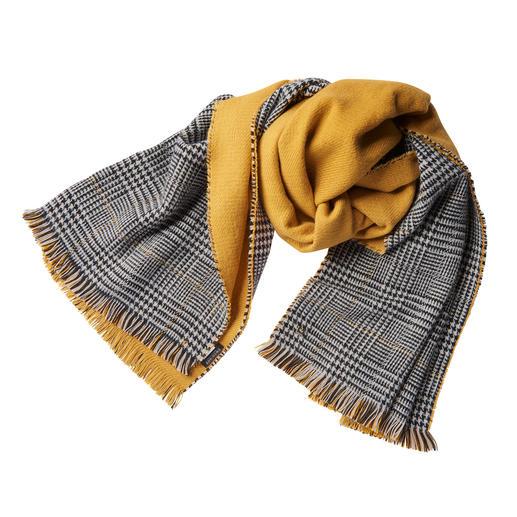 Twin-Set Doubleface-Schal, Curry - Fashion-Update für Ihre Jacken und Mäntel: Der Doubleface-Schal von Twin-Set.