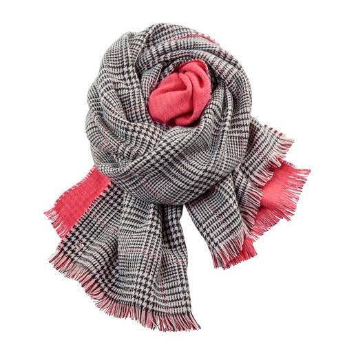 Twin-Set Doubleface-Schal, Paprika Fashion-Update für Ihre Jacken und Mäntel: Der Doubleface-Schal von Twin-Set.