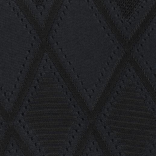 Versace Collection Feinstrick-Rautenpullover Versace Collection macht den Feinstrick-Pulli zum Fashion-Highlight: Blau und Schwarz, Rauten und Relief-Struktur.
