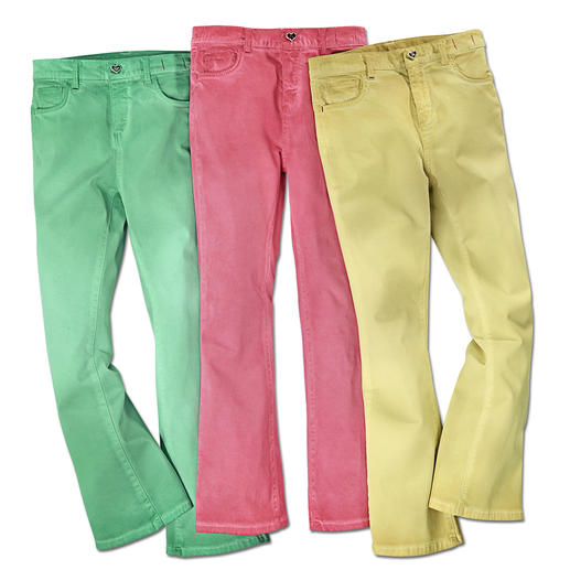 Twin-Set Colour-Jeans Cropped Flare-Form + Candy-Colours: Die Jeans des Fashion-Frühlings kommt von Twin-Set.