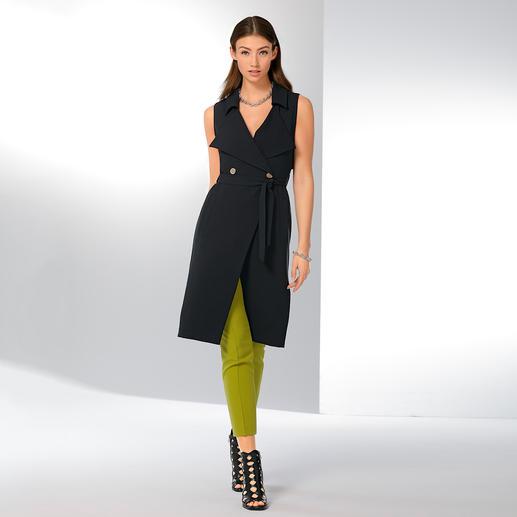 """Versace Collection Long-Weste """"Dress up"""" Modisch wichtige Long-Weste und aktuelles Blazer-Kleid in einem. Von Versace."""