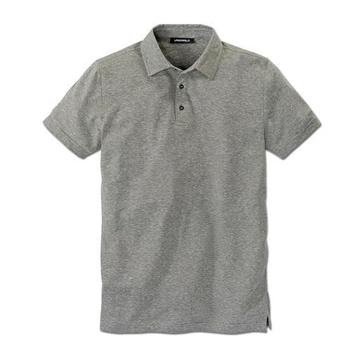 Lagerfeld Piqué-Leinen-Polo Typisch clean und klar – und eine Prise luftiger: Lagerfelds Piqué-Polo mit Leinen.
