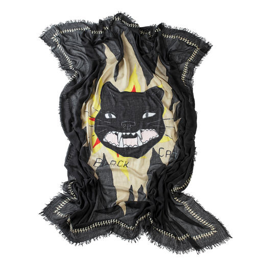 Zadig & Voltaire-Tuch Black Cat Rock. Grunge. New Romantic: das eine Tuch für alle Trends. Von Zadig & Voltaire.
