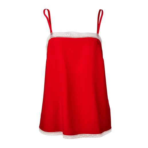 Zadig & Voltaire rotes Lingerie-Top Das Lingerie-Top ist der neue Mode-Liebling – doch bei Zadig & Voltaire schon längst erprobt.