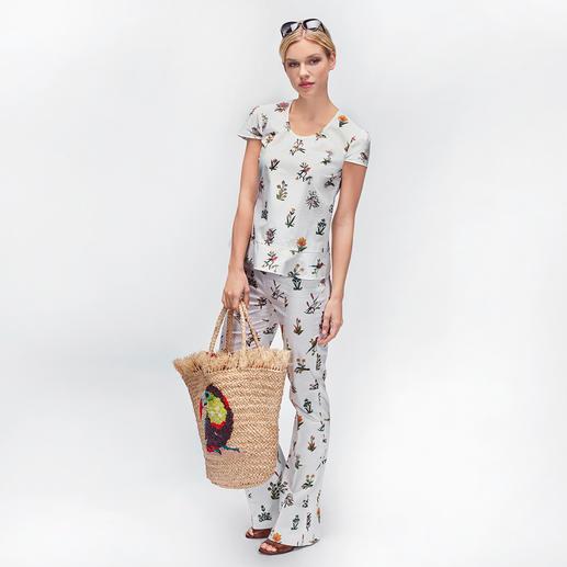 """Strenesse Pyjama-Look-Top oder -Hose Pyjama-Look ohne """"out of bed""""-Verdacht. Und mit aktuellem Blüten-Print. Von Strenesse."""