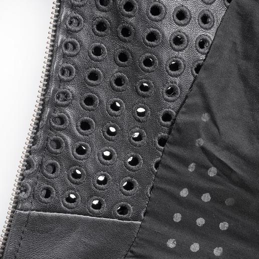 Arma Couture-Biker-Lederjacke Das Couture-Piece unter den coolen Bikerjacken: Lammnappa-Leder mit XL-Perforation.