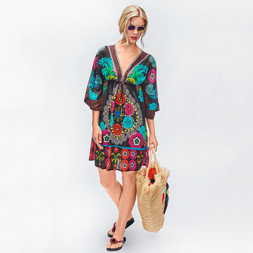 Ruby Yaya Flower-Power-Kleid Summer-Love Hippie-Ethno-Kleid – vom derzeit wohl angesagtesten Label des Looks: Ruby Yaya.