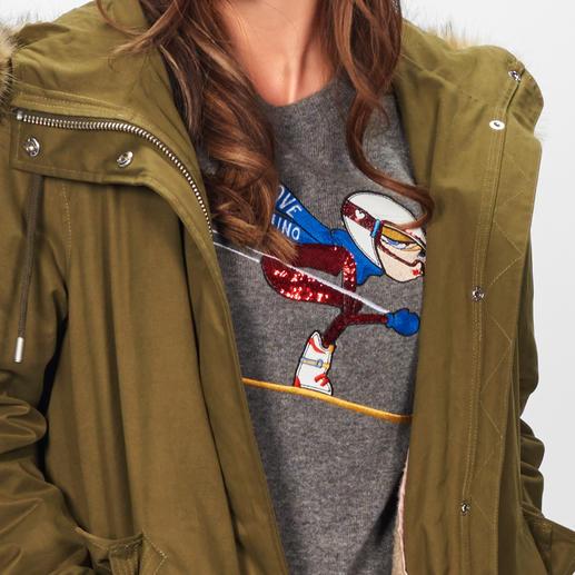Love Moschino Ski-Pullover Love Moschinos Beitrag zum Thema Sports-Couture: der Statement-Pulli mit Sammler-Motiv.