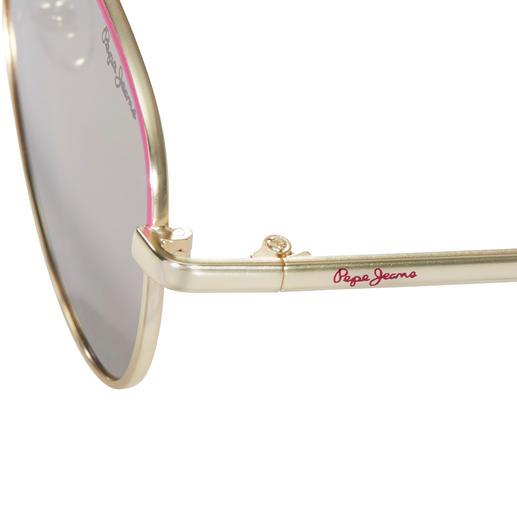 Pepe Jeans Flat Lense-Pink-Shades 4-facher Trend-Treffer: Flat-Lense. Spiegelgläser. Pink. Gold. Von Pepe Jeans London.