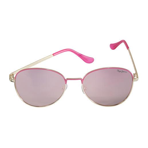 Pepe Jeans Flat Lense-Pink-Shades - 4-facher Trend-Treffer: Flat-Lense. Spiegelgläser. Pink. Gold. Von Pepe Jeans London.
