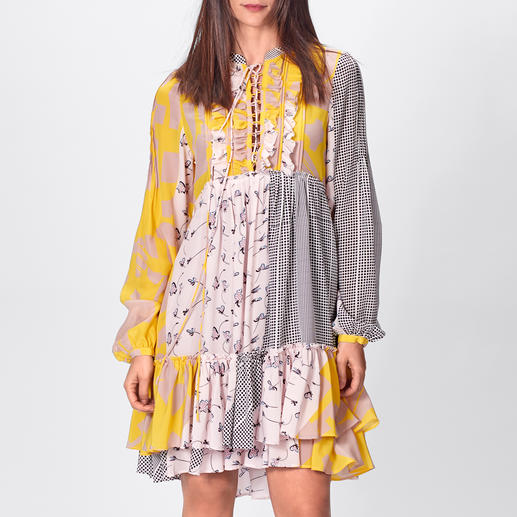 SLY010 Boho-Kleid Top-Thema Boho-Kleid: Bei SLY010 aus hochwertiger Stretchseide und mit exklusivem Muster-Mix.