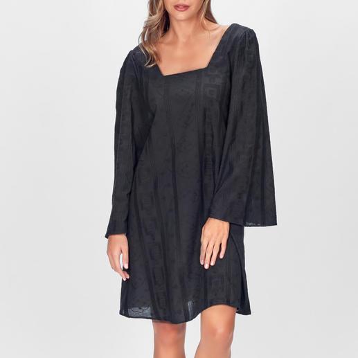 Stefanel Black-Boho-Dress Boho-Trend auf den Punkt gebracht – und selten so dezent. Designer-Kleid von Stefanel – aber ohne Designer-Preis.