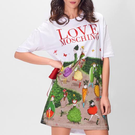 Love Moschino Shirt-Kleid Freche Früchtchen statt lieblicher Blümchen: Love Moschinos Shirt-Kleid bringt Innovation in den Sporty-Chic.