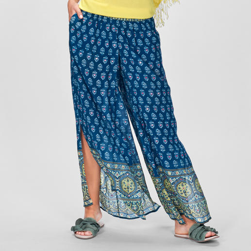 Rubyyaya Ornament-Palazzohose Edler Hippie-Ethno-Look vom internationalen Trend-Label Rubyyaya. Und doch noch erschwinglich.
