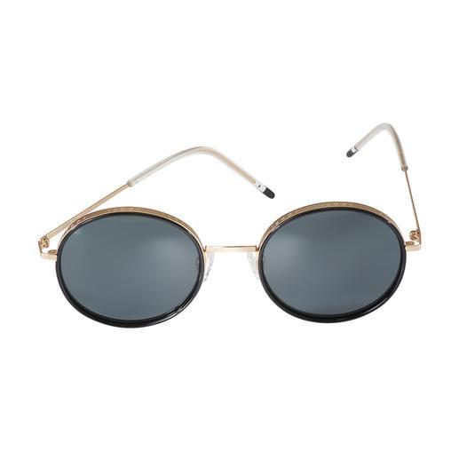Joop! Sonnenbrille Round-Design Trend-Trio 2019: Runde Retro-Form. Breite Gold-Fassung. Moderne Ultraleicht-Bügel. Von JOOP!.