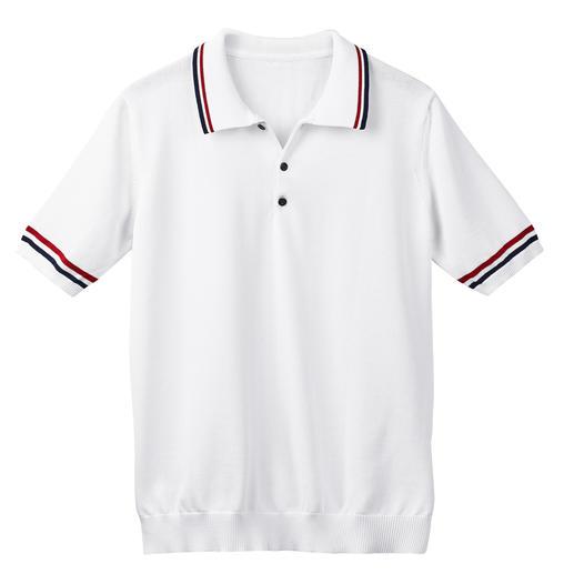 Feinstrick-Tennis-Polo Die Nobel-Version der aktuellen Strickpolos im Tennis-Stil. Luftiger Feinstrick aus dreifach veredelter Baumwolle.