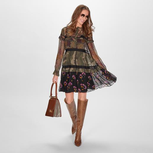 TWINSET Camouflage-Blusenkleid Camouflage-Trend à la TWINSET: feminin-verspielt statt maskulin-derb.