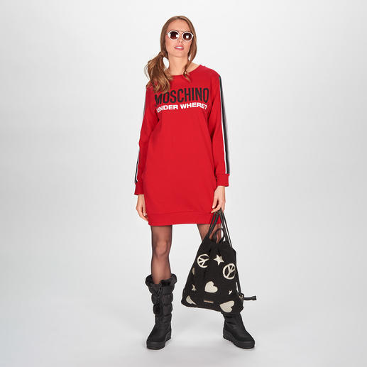 "Moschino Underwear Sweat-Dress Sports Couture nach typisch witziger Moschino Art: das (Home-)Sweat-Dress aus der ""Under where?""-Kollektion."