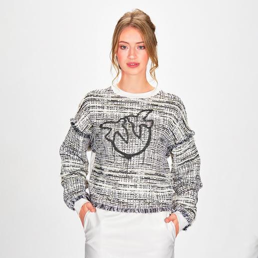 """Pinko Couture-Sweatshirt Trend-Favorit """"Sporty Chic"""": Pinko macht das gemütliche Sweatshirt zum edlen Couture-Piece."""