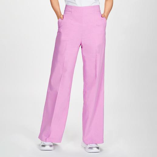 Pinko Leinen-Hose oder -Blazer Pink-Rosé Trotz trendiger Power-Farbe nicht over the top: der pinke Leinen-Anzug von Pinko.