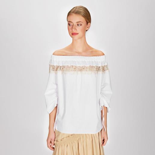 MY TWIN TWINSET Safari-Bluse oder -Rock - Angesagter Safari-Look à la TWINSET: romantisch & feminin mit Rüschen, Volants und Spitze.