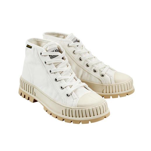 """Palladium Bulky-Sneaker Pallashock Mid In den 90ern Kult – heute wieder Top-Trend: Der """"Pallashock"""" von Palladium. Bulky-Form. Mid-Cut-Schaft. Canvas."""