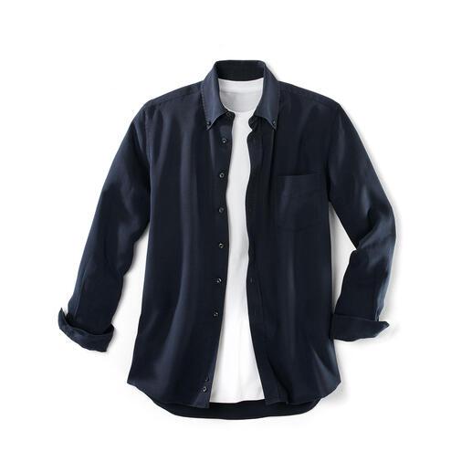 """Tencel®-Denim-Shirt Dieses """"Jeans""""-Hemd lieben Sie an heißen und an kalten Tagen. Viel weicher als Denim. Viel lässiger als ein gewöhnliches Oberhemd."""