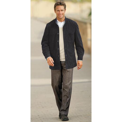 Rentierkalbleder-Hemdjacke Eine solide Lederjacke - so leicht wie ein Hemd.