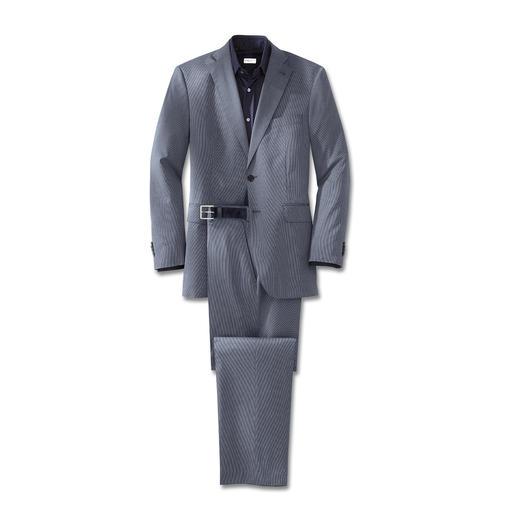 """""""Mille Rayé""""-Anzug Aus feinem, nano-ausgerüstetem Baumwoll/Schurwoll-Tuch."""