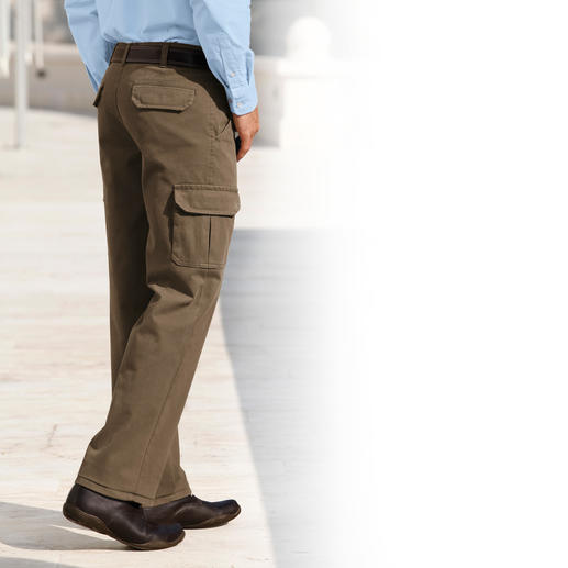 Thermo-Chino oder -Cargo Diese Thermo-Hosen lassen Sie niemals frieren. Und Ihre Haut bleibt stets trocken.
