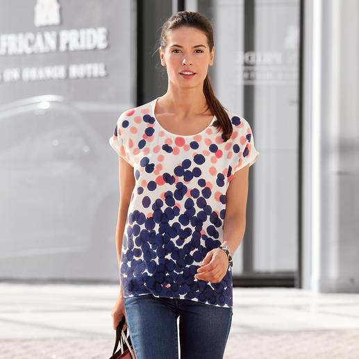 Rachel Rose Handpaint-Seidenshirt Geheimtipp aus New York: Die handbemalten Seidenshirts von Rachel Rose.