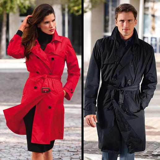 Knirps® Regen-Trenchcoat Selten ist praktischer Nutzen so schick: der Trenchcoat vom Wetterschutz-Spezialisten Knirps®.