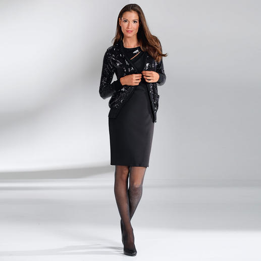 Fogal Pailletten-Kleid oder -Cardigan So glamourös – und dabei ganz unkompliziert. Vom Feinstrickspezialisten Fogal.