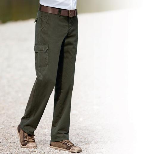 Seltenes Pima-Cotton-Funktionsgewebe: schützt vor Kälte, Regen und Wind. Weich. Und ganz natürlich. Bewegungsfreiheit inklusive. Die Hose wärmt angenehm.Und lässt keinen Wind durch.