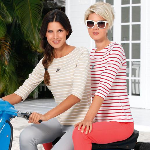 Bretagne Baumwoll-Shirt, Damen Die original Bretagne-Shirts aus fein gewirktem Baumwoll-Jersey. Von Saint James/Frankreich.