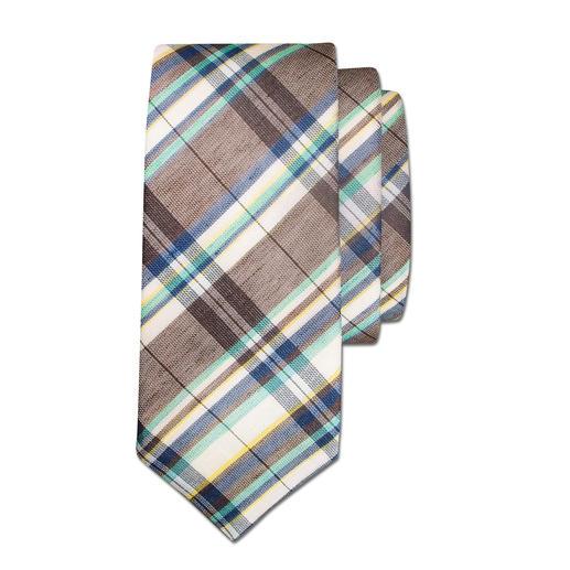 Laco Leinen/Baumwoll-Krawatte - Die perfekte Ergänzung zu leichten Sommer-Sakkos und -Anzügen. Die frische Leinen/Baumwoll-Krawatte.